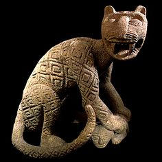 Atlantic Watershed Basalt Sculpture of a Jaguar Costa Rica  100 AD to 500 AD