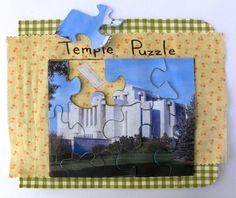 Temple Puzzle quiet book page
