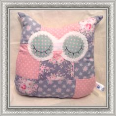 Patch work owl cushion - The Supermums Craft Fair