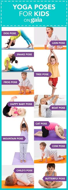 Health yoga poses Yoga For Preschool Age Yoga postures emulate animal shapes and elements in nature. Help kids connect with nature, with others and with themselves with these eight yoga poses for kids. Kids Yoga Poses, Kid Poses, Yoga For Kids, Exercise For Kids, Children Poses, Young Children, Gym For Kids, Stretches For Kids, Diy Yoga