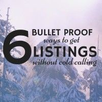 6 Bullet Proof Ways To Get Listings Without Cold Calling Need more real estate listings but don't want to cold call? Here are some bullet proof ideas to get more listings this quarter without picking up the phone! Real Estate Career, Real Estate Leads, Real Estate Business, Selling Real Estate, Real Estate Sales, Real Estate Companies, Real Estate Investing, Real Estate Marketing, Real Estate Coaching