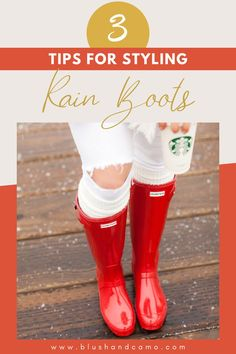 When it's rainy outside, rain boots are a must. But you may think that there is no way to make them look cute. You couldn't be more wrong! With my 3 easy tips, you'll be loving your rain boots and wanting to wear them every day! After all, we Blush Babes make fashion work for us! #fashion #ootd #rainyweather #rainboots