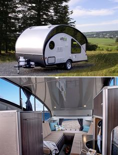 Safari Condo Alto Trailer --Designed like a classic teardrop camper, these new convertible campers from Canada's Safari Condo company feature the low, compact dimensions that makes towing a teardrop easier but once parked, they pop-up. The added vertical space is made of windows that bring in light while keeping it light enough for car towing. Two models are available.