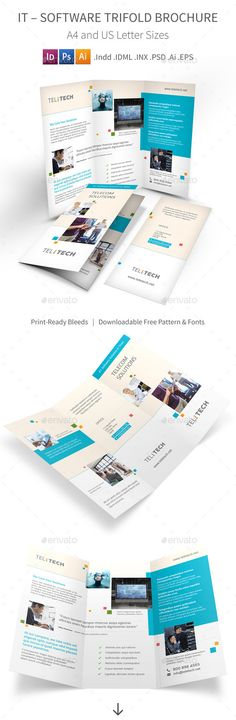 Software Business Bifold \/ Halffold Brochure Brochures, Brochure - software brochure