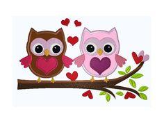 18x13 Stickdatei Cute Owls Ast-Eulen 7 Appli  von kindundkegel-shop auf DaWanda.com