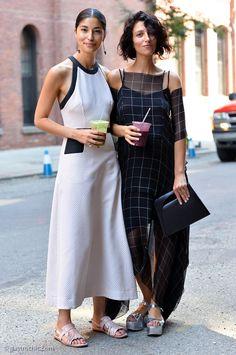 Caroline and Yasmin being awesome. NYC. #CarolineIssa #YasminSewell