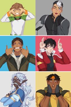Funny faces from the voltron team