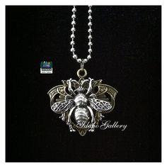 Antique Silver & Brass Queen Bee Pendant