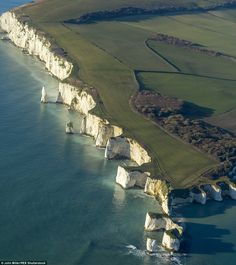 Top walk: Old Harry Rocks on the Isle of Purbeck, Dorset, has been named the best coastal walk in a list compiled by the National Trust