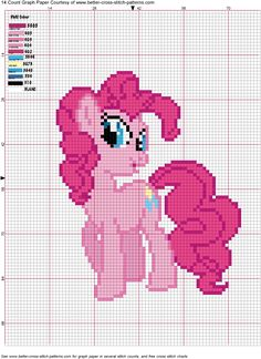 Pinkie Pie Cross Stitch Pattern by AgentLiri on deviantART