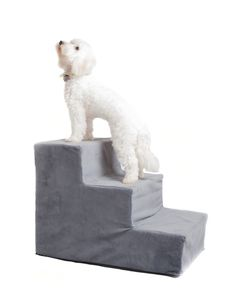 Pets will love these plush steps for easy climbing up to your bed or sofa.