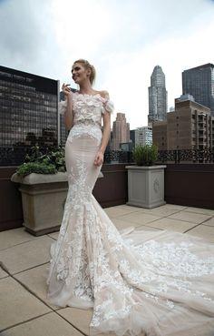 Inbal Dror 2016 Wedding Dresses , Off the shoulder Mermaid wedding dress | itakeyou.co.uk #mermaid #weddingdress