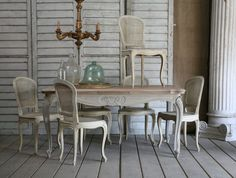 Loius XV cane dining chairs at  Eloquence http://brookegiannetti.typepad.com/velvet_and_linen/2010/11/eloquence.html