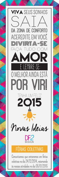 Newsletter 2015 - Feliz Ano, Pessoal!!