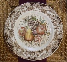 Nancy's Daily Dish: Windsor Fruit Fall Tablescape
