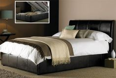 Hyder Bali Ottoman - Double Bed Frame Only - Brown