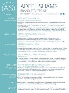 Image result for brand strategist resume Brand Strategist, First Year, Resume, Student, Image, Cv Design
