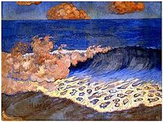 Marine bleue, Effet de vagues, 1893 - Georges Lacombe (painter) - Wikipedia, the free encyclopedia