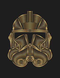 Star Wars Clone Trooper Art Print by Nathan Owens. Shop Prints & Tees at https://society6.com/NathanOwens