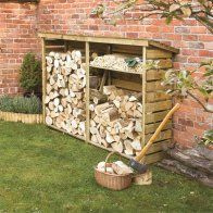 An extremely large firewood log store for the garden. Easy to assemble and is very strong. The firewood log store is pressure treated to give a long service life, with a shelf included the log store provides a perfect log storage solution. Outdoor Firewood Rack, Firewood Logs, Firewood Storage, Outdoor Storage, Garden Buildings, Wood Burner, Pallet Furniture, Furniture Plans, Luxury Furniture