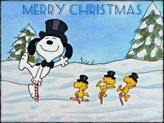 Christmas Wallpaper: ★ Christmas with Snoopy ☆ Peanuts Christmas, Charlie Brown Christmas, Charlie Brown And Snoopy, Merry Christmas To All, Christmas Time, Christmas Dance, Christmas Cover, Christmas Cartoons, Christmas Goodies