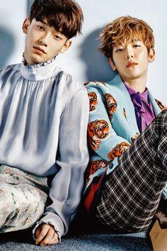 #CHEN & #BAEKHYUN for Vogue Korea 2017 April Issue