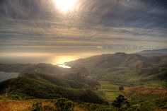The Headlands in general. | 21 Reasons Marin County Is The Most Beautiful County.  You can probably see San Francisco to the left from this vantage point.