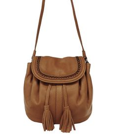 Another great find on #zulily! Cognac Eva Leather Crossbody Bag by Lucky Brand #zulilyfinds