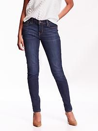 Old Navy Curvy Skinny Jeans for Women - general thick jeans for everyday shop work. long skinny fit. Can tuck into boots.