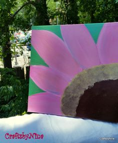 Stretch Canvas Flower Painting