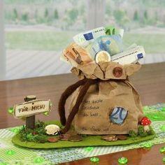 Eine Pfiffige Geldgeschenke Geburtstagsidee zum Nachbasteln. Mit nur wenigen Bastelmaterialien entsteht ein schönes Geburtstagsgeschenk. Wir wünsch...