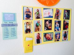 Adult game at a 1 year old birthday party. Guests try to guess the age of baby in each photo. I had a photo for each month, 1-12. We gave a prize to the person who got the most right.