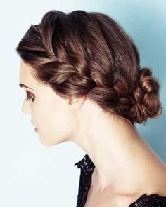 Such a pretty up do with braids and a knot #wedding #hairstyle #vintage #rustic #bridalhair