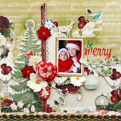Be Merry * Webster�s Pages* - Scrapbook.com
