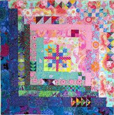 This quilt, Garden Medallion had been on my Pinterest board for ages. I love the huge log cabin made with Kaffe Fassett fabrics and alwa...