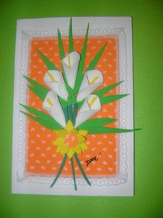 A nice idea to decorate cards or just to make Hobbies And Crafts, Diy And Crafts, Arts And Crafts, Diy For Kids, Crafts For Kids, Ribbon Cards, Wilson Art, Paper Weaving, Mothers Day Crafts