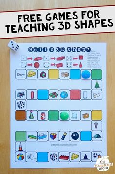 Free games for teaching about 3D shapes - The Measured Mom #teachingchildrenmathematics #teachingkidsmath