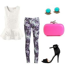 The Printed Jean + Peplum top
