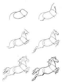 Учимся рисовать карандашом. Лошадь