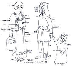 Norse Clothing - Women usually wore an under-dress, a dress and an apron. Description from pinterest.com. I searched for this on bing.com/images