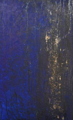 "Celestte ""Midnight"" Original  Acrylic & Oil on Canvas 48 x 30"