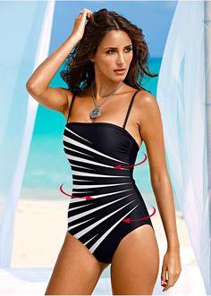 Kostium kąpielowy modelujący sylwetkę Z • 89.99 zł • bonprix
