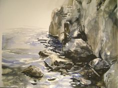 ARTFINDER: Seascape with rocks 1 by Boyana Petkova - Seascape with rocks 1