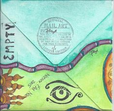 Mail art by Neener of ATC's For All. (back)
