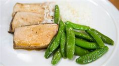 Katie Lee's hoisin ginger pork chops with saut?ed snap peas. TODAY, March 10 2017.