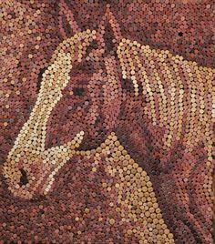Custom wine cork art. 3250 wine corks were used