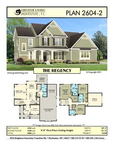 Plan 2970: THE - House Plans - 2 Story House Plan - Greater Living ...