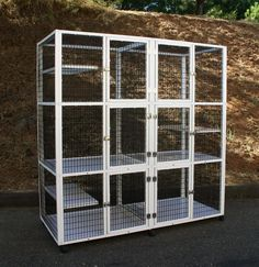 No one really wants tolimit a cat in all of their exploratory greatness… but for virtually all cat owners, there will almost certainly come a time to utilize an enclosure with your cat. A quality catio can allow your cat the outdoor freedom they crave with the protection they need. A quiet and private indoor encl Tower Models, Cat Kennel, Cat Cages, Pet Supply Stores, Work With Animals, Happy Animals, Humane Society, Animal Cage, Animal Rescue