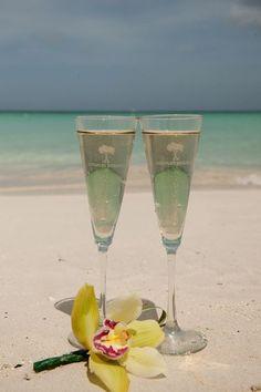 Cheers to the married couple! #BeachWedding