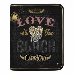 "Caderno Argolado Capricho ""Love is the new black"" - CAPRICHO"